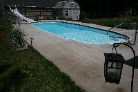 Savannah Deep Fiberglass Pool in Hoopeston, IL